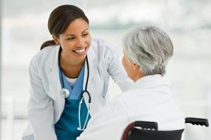 healthcare nurse elderly senior wheelchair care